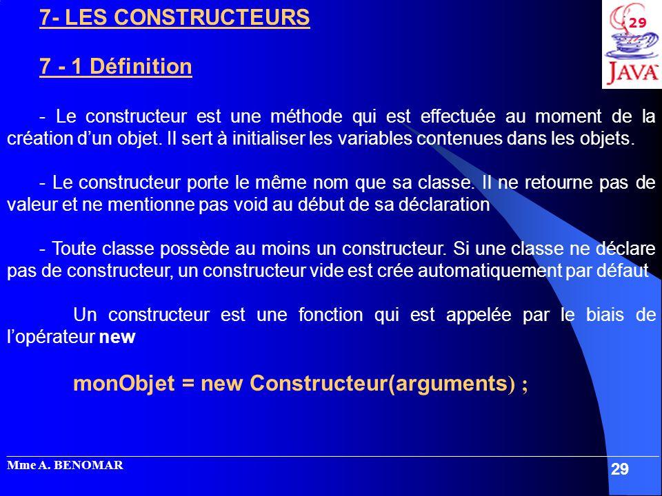 7- LES CONSTRUCTEURS 7 - 1 Définition
