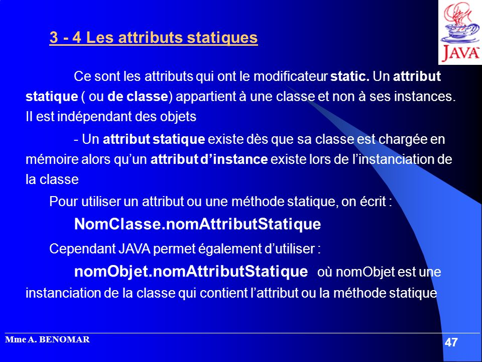 3 - 4 Les attributs statiques