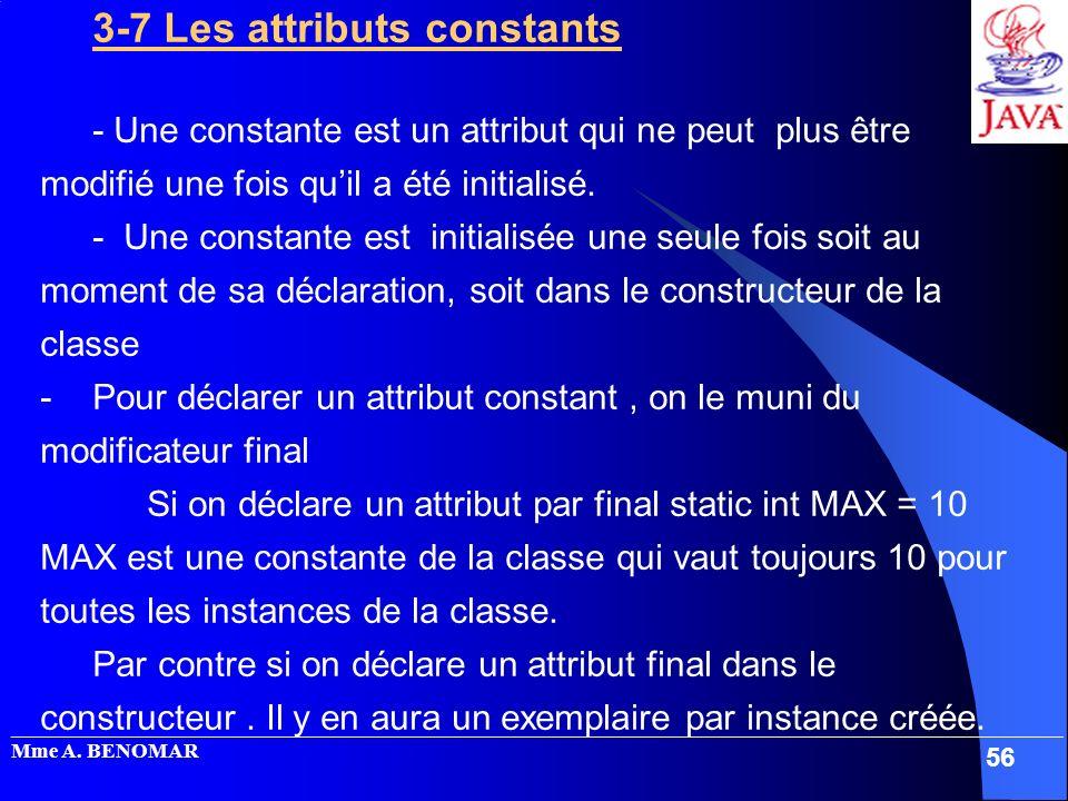 3-7 Les attributs constants
