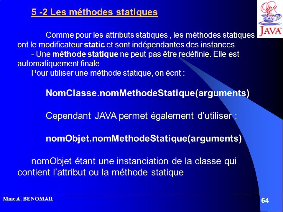 5 -2 Les méthodes statiques