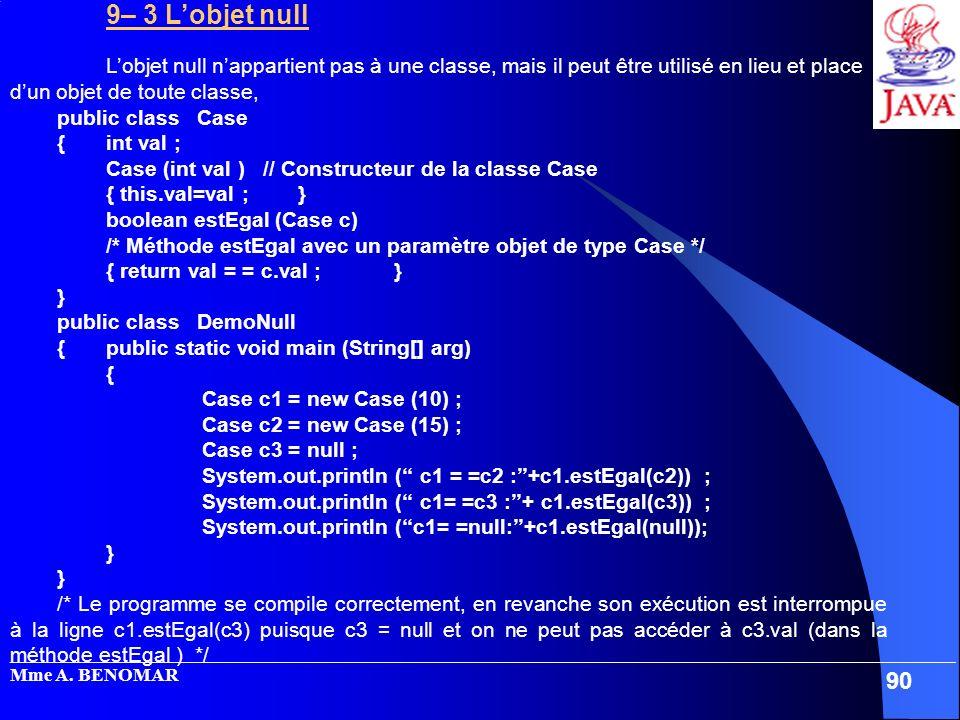 Case (int val ) // Constructeur de la classe Case { this.val=val ; }