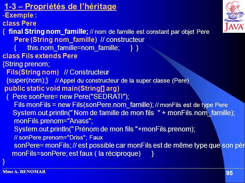 Pere (String nom_famille) // constructeur