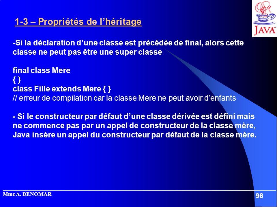 class Fille extends Mere { }