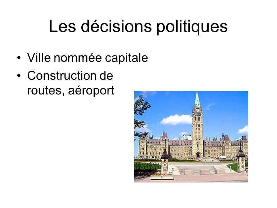 Les décisions politiques