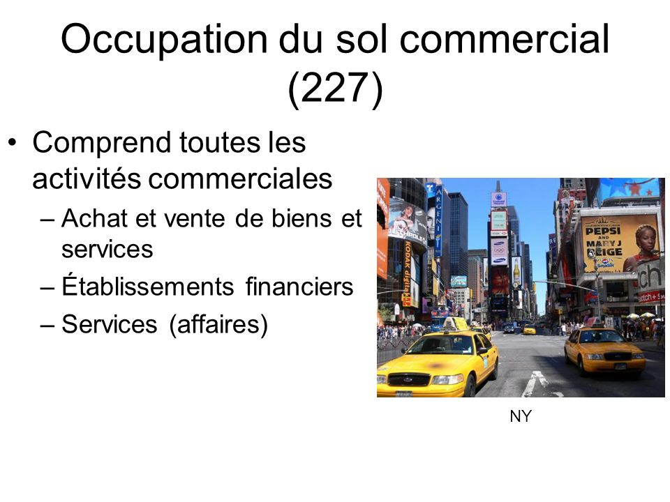 Occupation du sol commercial (227)
