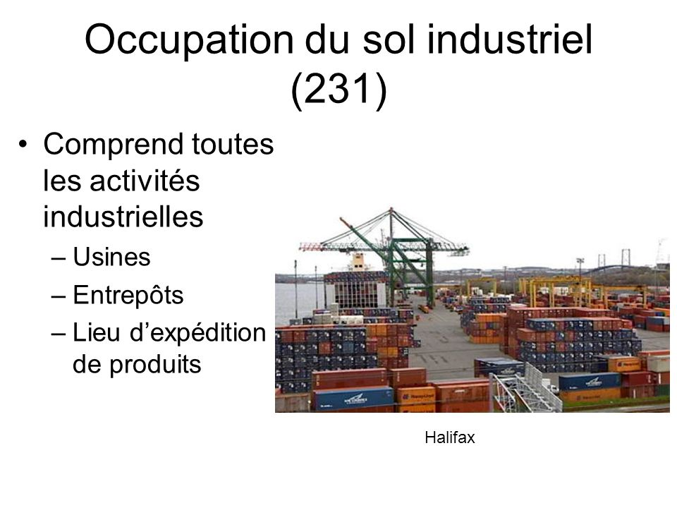 Occupation du sol industriel (231)