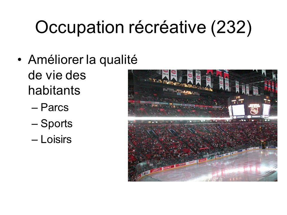Occupation récréative (232)