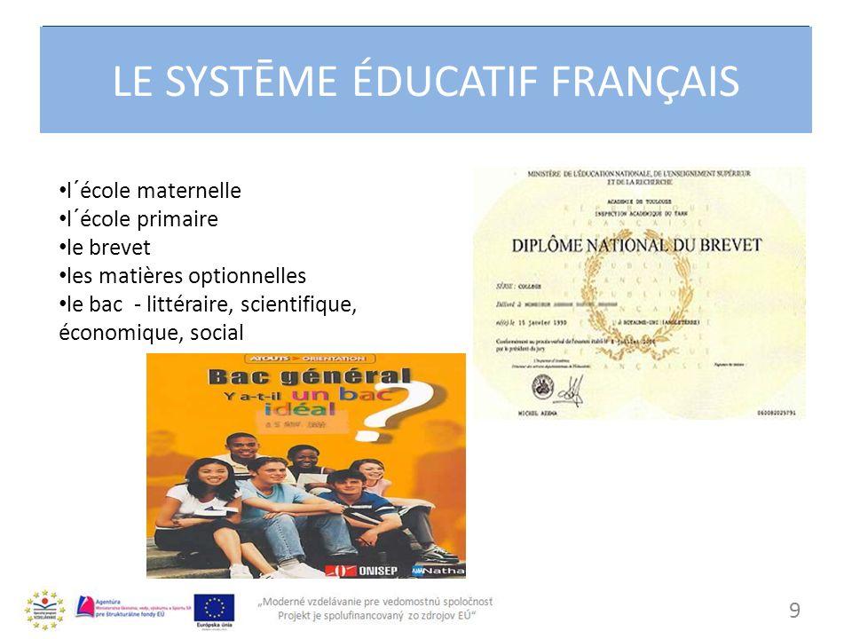 LE SYSTEME EDUCATIF FRANCAISE