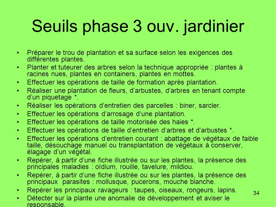 Seuils phase 3 ouv. jardinier