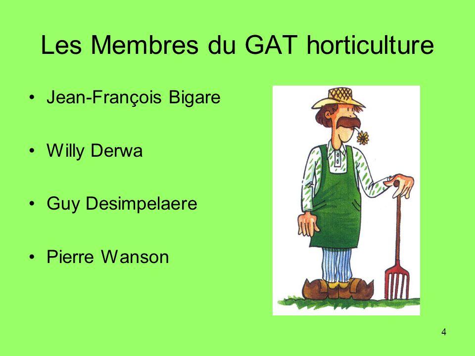 Les Membres du GAT horticulture