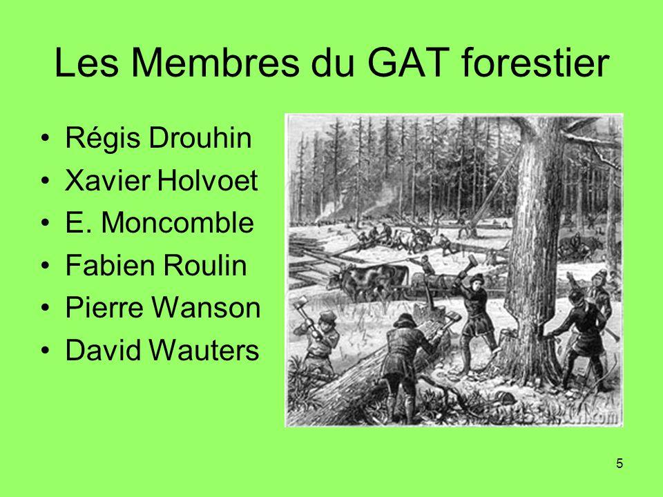 Les Membres du GAT forestier