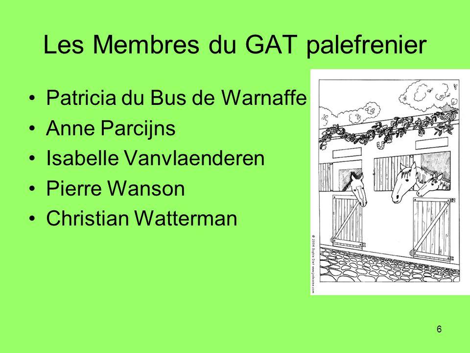 Les Membres du GAT palefrenier