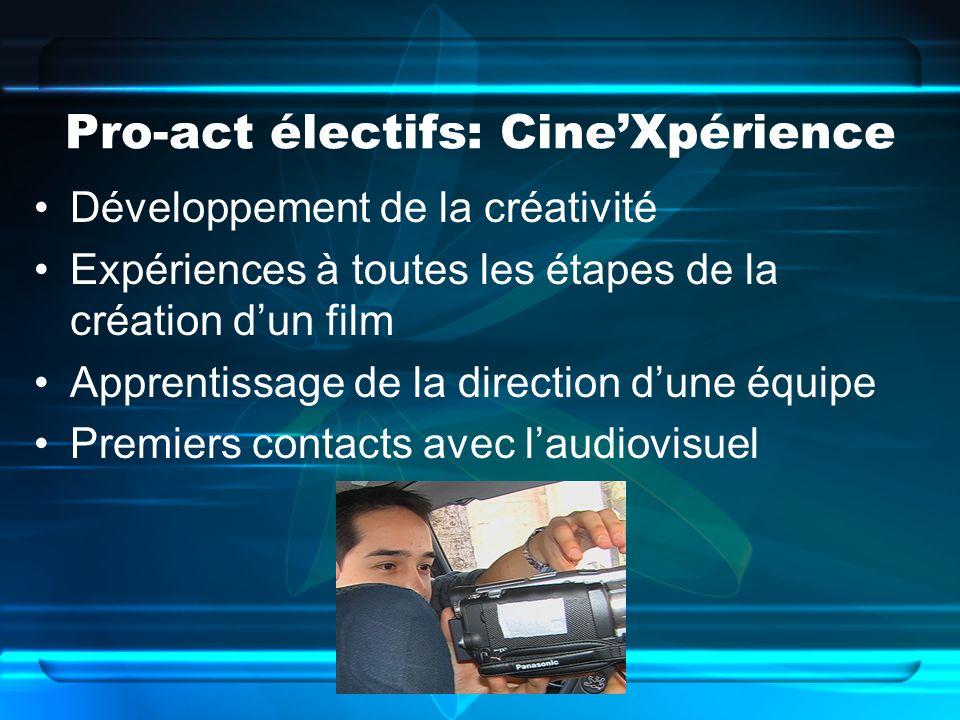 Pro-act électifs: Cine'Xpérience