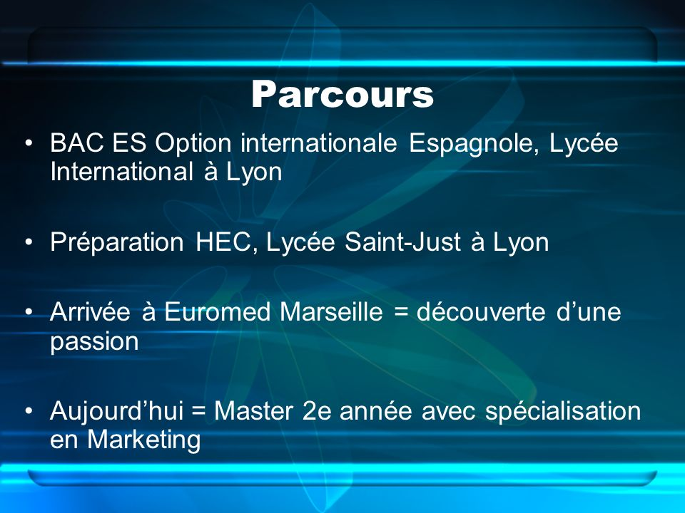 Parcours BAC ES Option internationale Espagnole, Lycée International à Lyon. Préparation HEC, Lycée Saint-Just à Lyon.