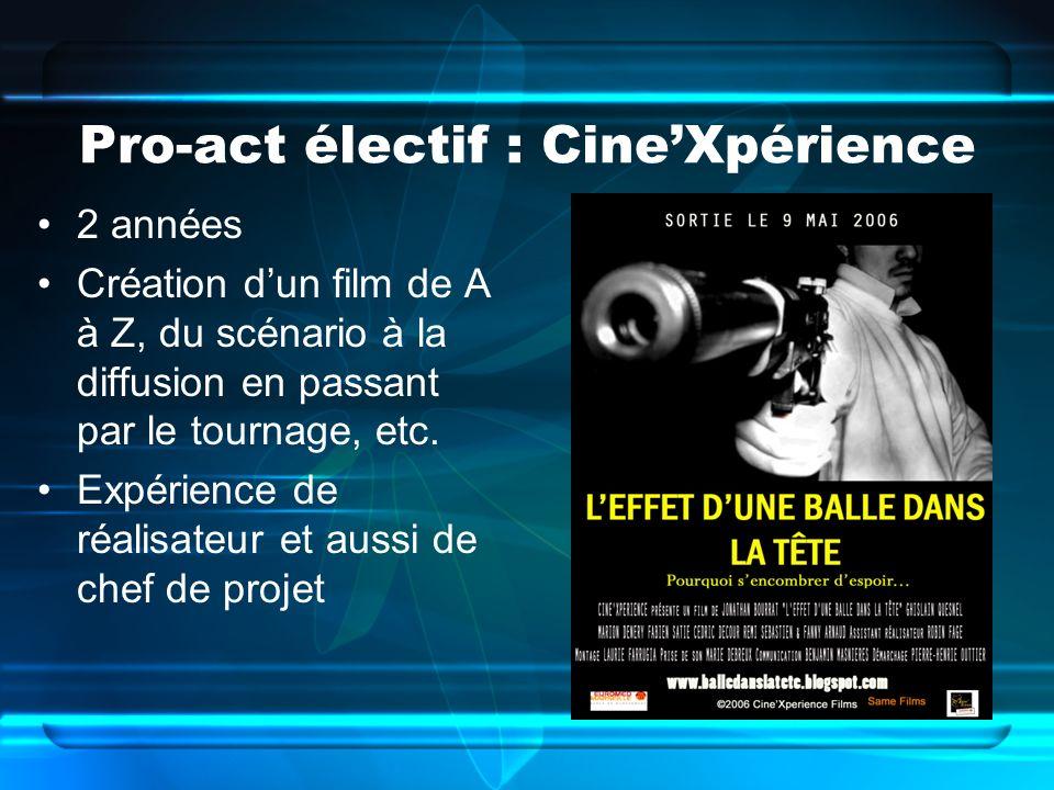 Pro-act électif : Cine'Xpérience