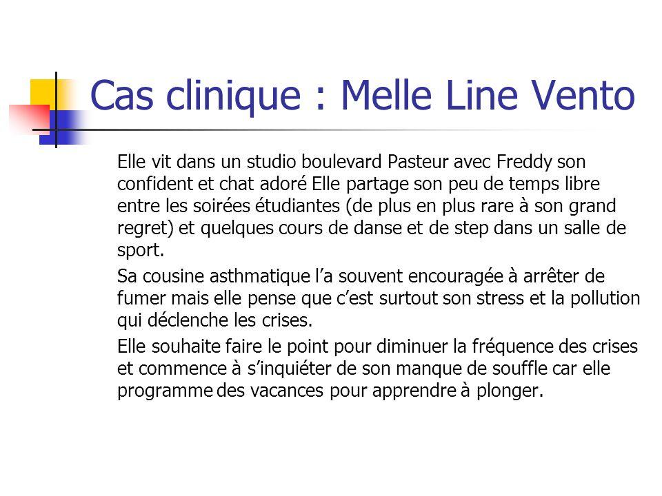 Cas clinique : Melle Line Vento