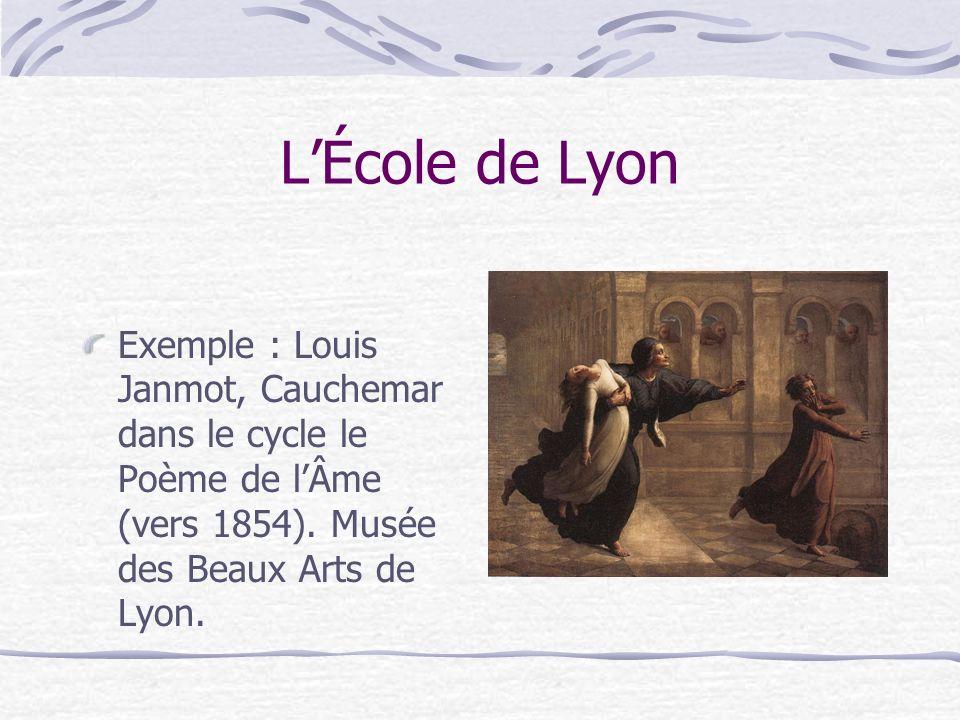L'École de Lyon Exemple : Louis Janmot, Cauchemar dans le cycle le Poème de l'Âme (vers 1854).