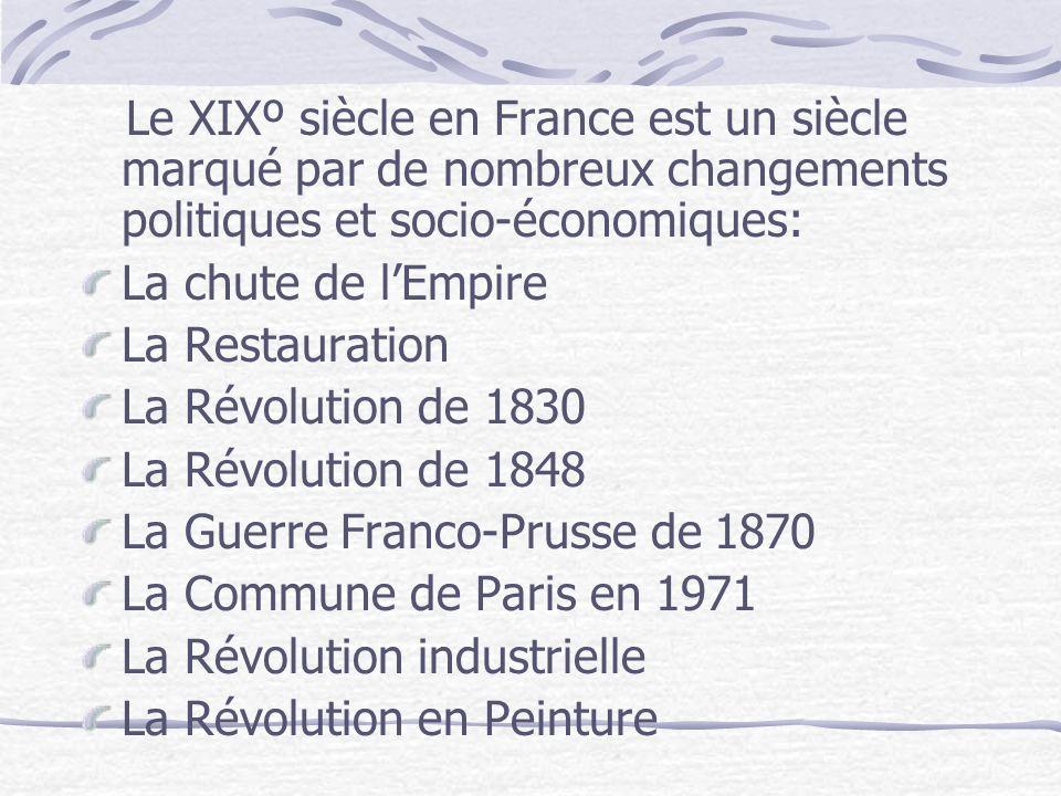 Le XIXº siècle en France est un siècle marqué par de nombreux changements politiques et socio-économiques: