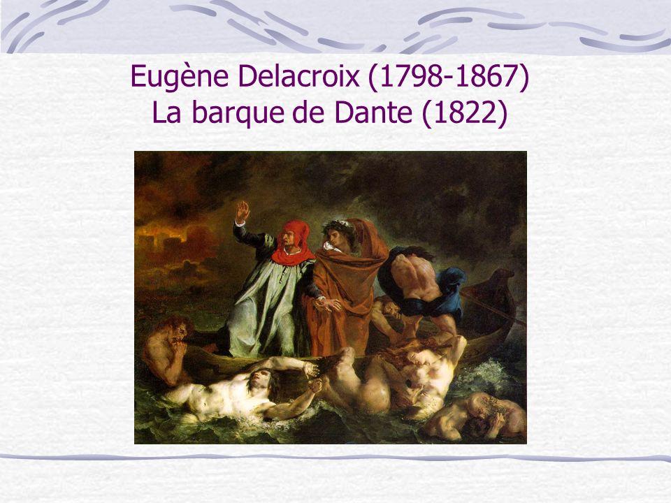 Eugène Delacroix (1798-1867) La barque de Dante (1822)