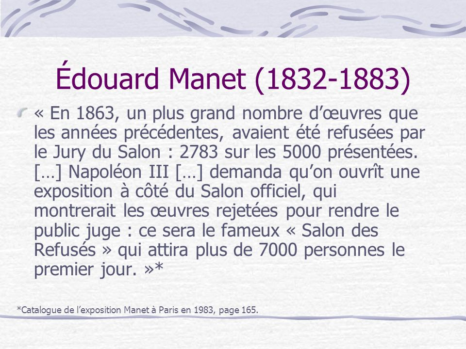 Édouard Manet (1832-1883)