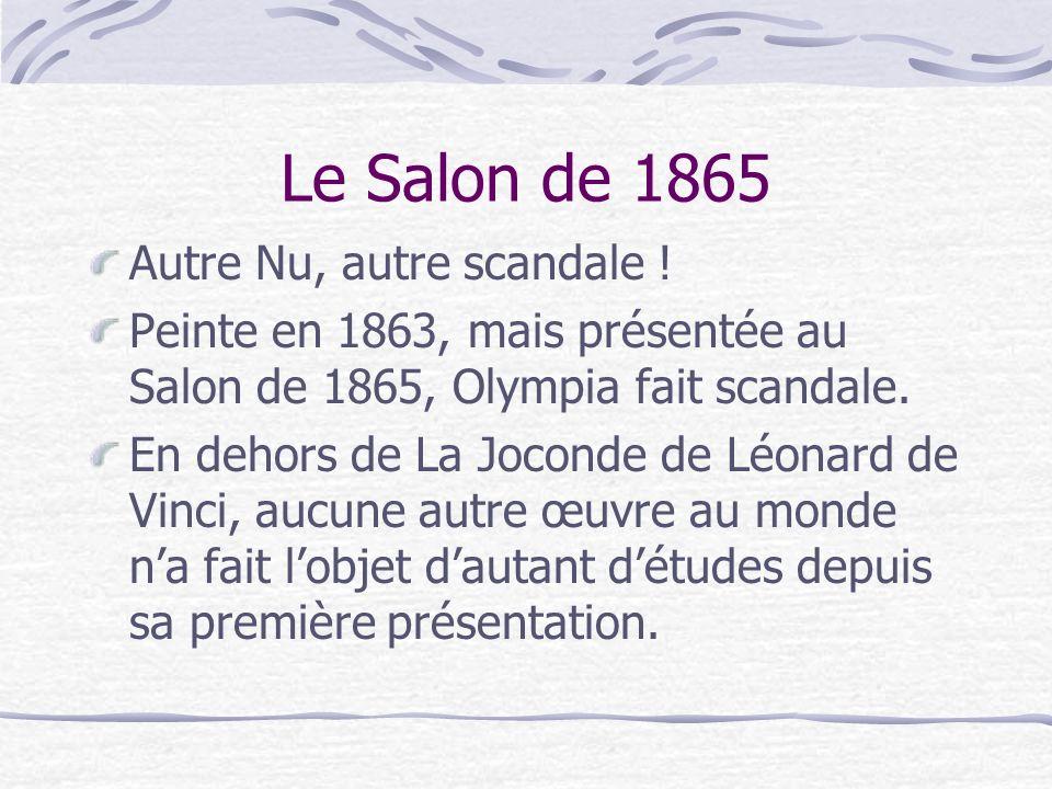 Le Salon de 1865 Autre Nu, autre scandale !