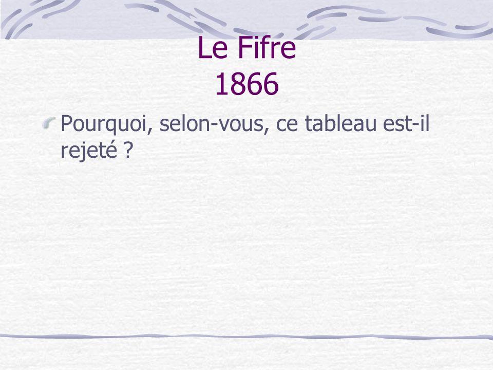 Le Fifre 1866 Pourquoi, selon-vous, ce tableau est-il rejeté