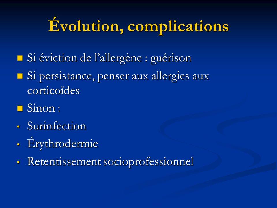 Évolution, complications