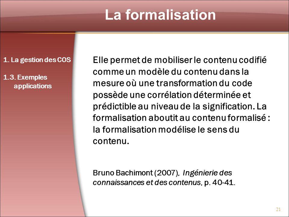 La formalisation