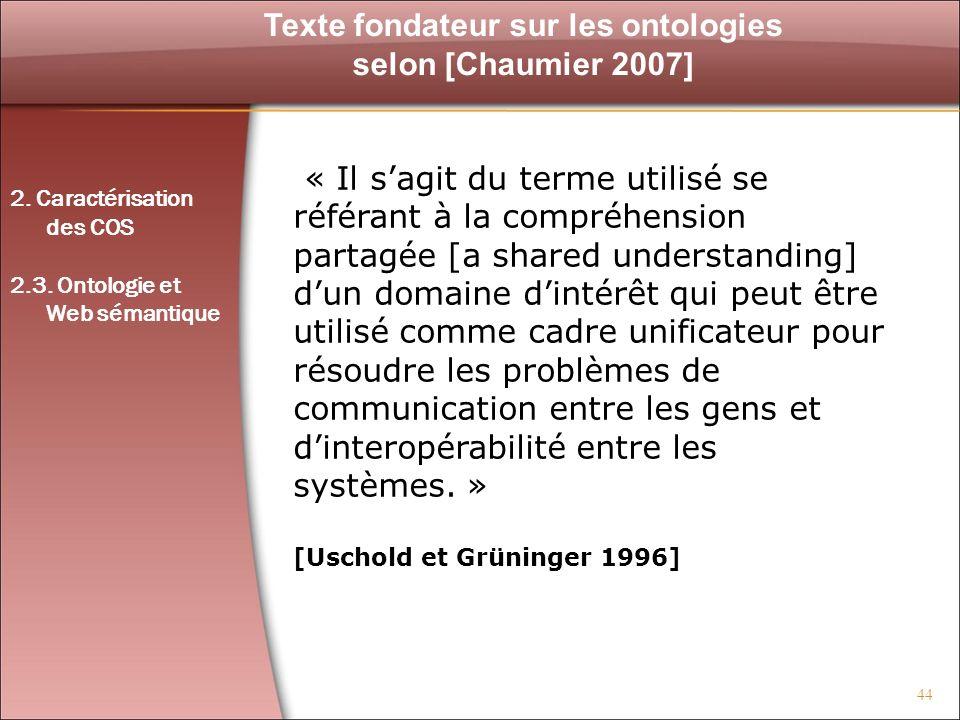 Texte fondateur sur les ontologies