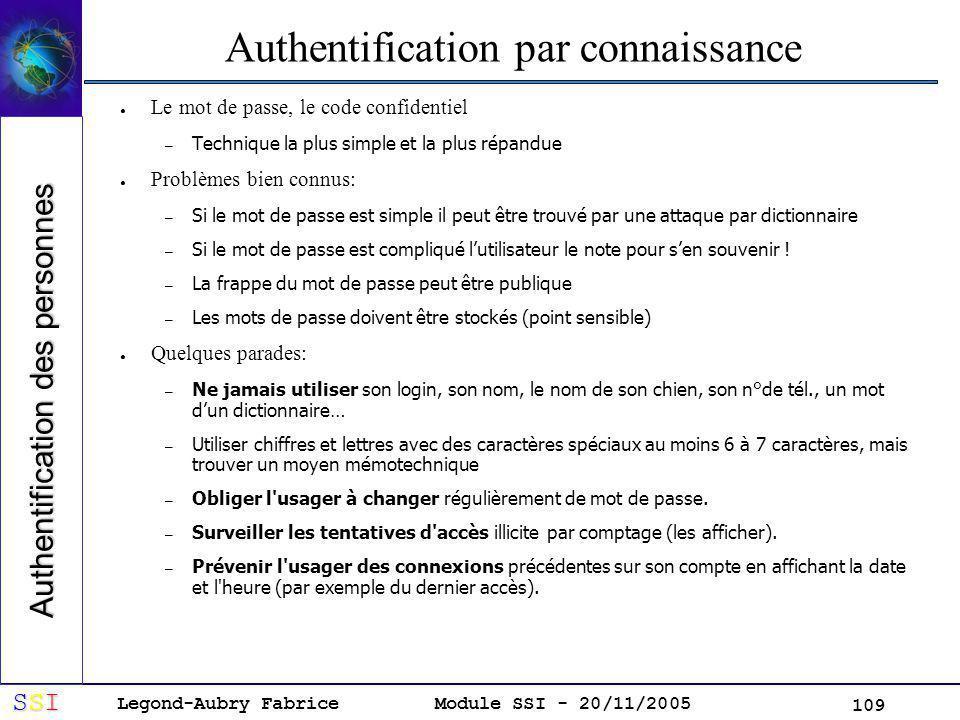Authentification par connaissance