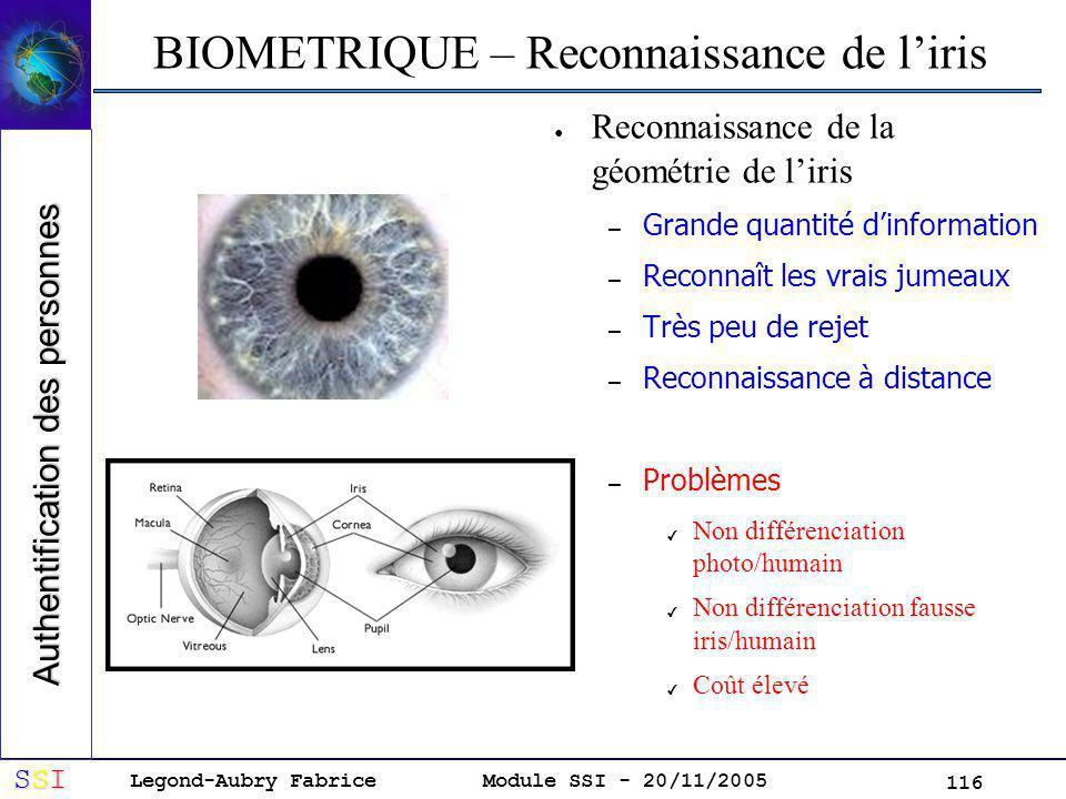 BIOMETRIQUE – Reconnaissance de l'iris