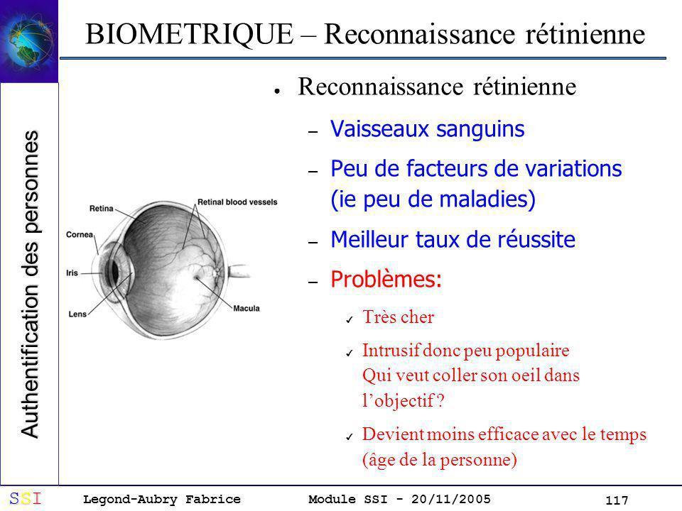 BIOMETRIQUE – Reconnaissance rétinienne