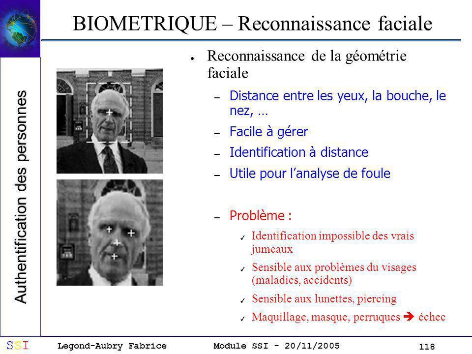 BIOMETRIQUE – Reconnaissance faciale