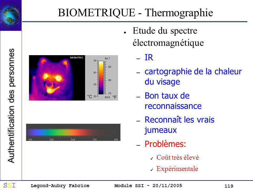 BIOMETRIQUE - Thermographie
