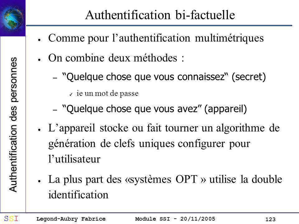 Authentification bi-factuelle