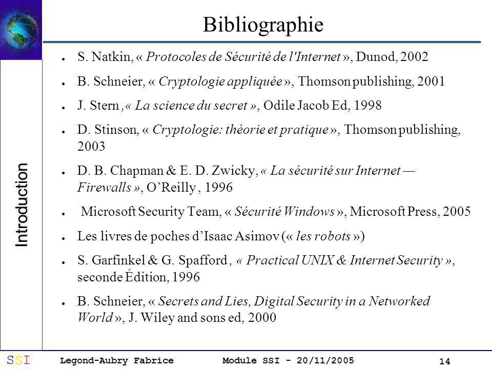 Bibliographie Introduction