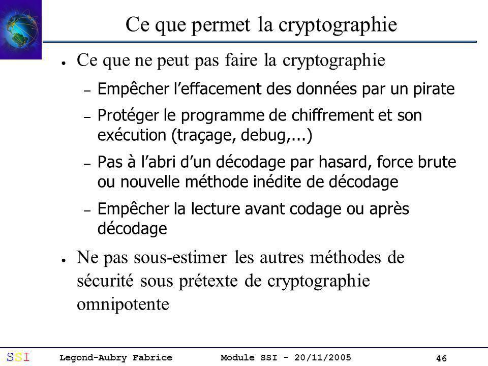 Ce que permet la cryptographie