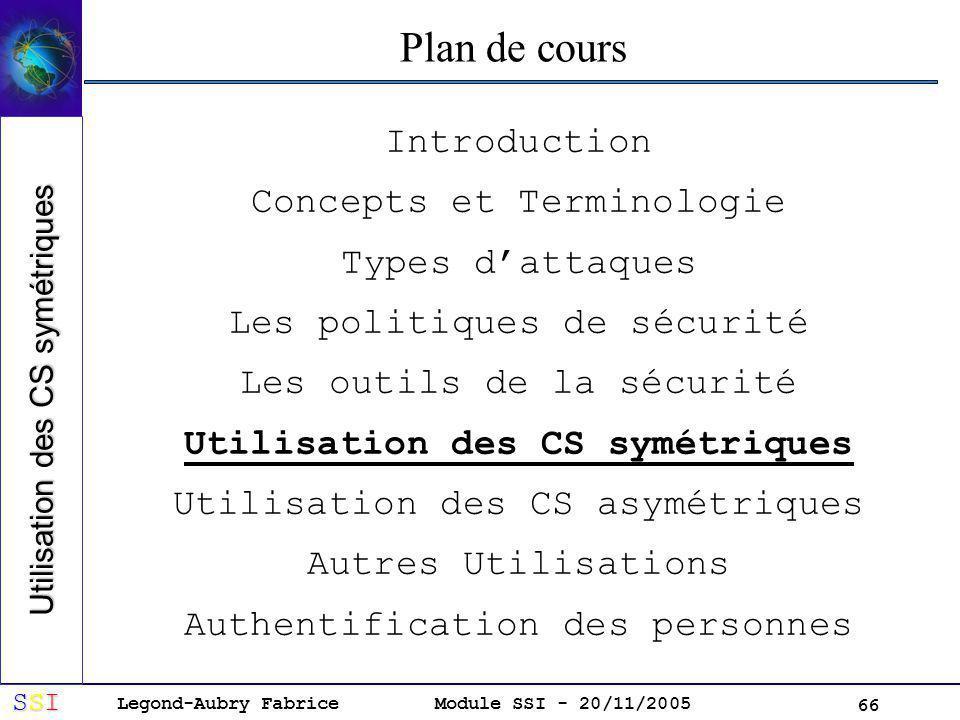 Utilisation des CS symétriques