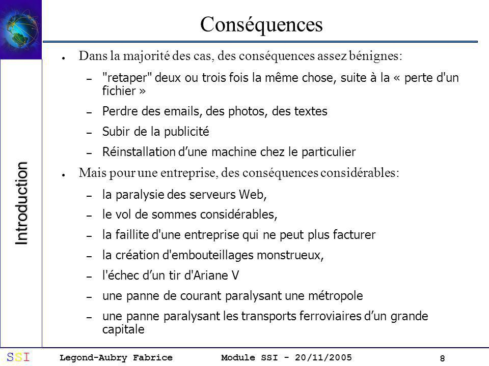 Conséquences Introduction
