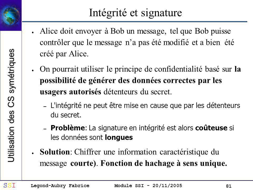 Intégrité et signature