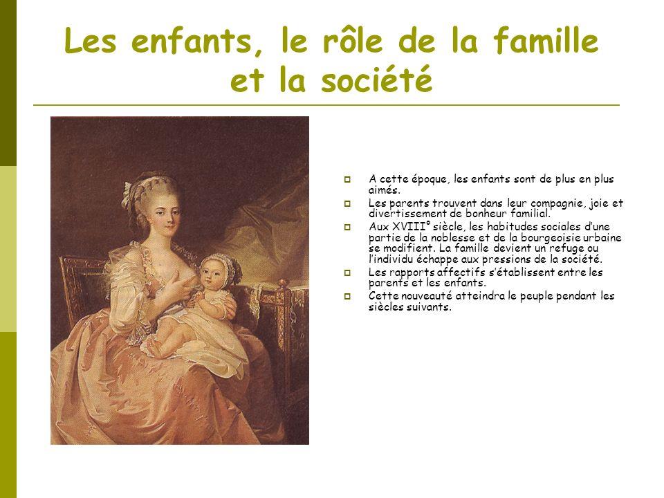 Les enfants, le rôle de la famille et la société
