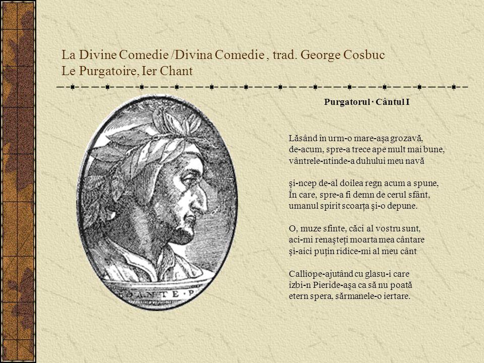 La Divine Comedie /Divina Comedie , trad