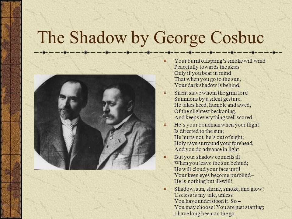 The Shadow by George Cosbuc
