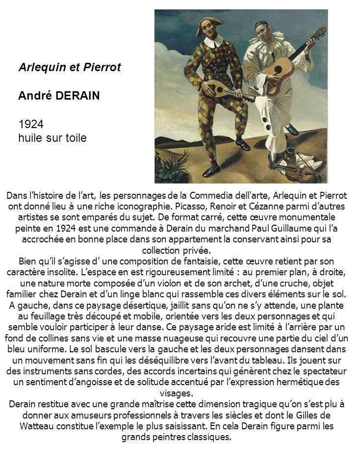 Arlequin et Pierrot André DERAIN 1924 huile sur toile
