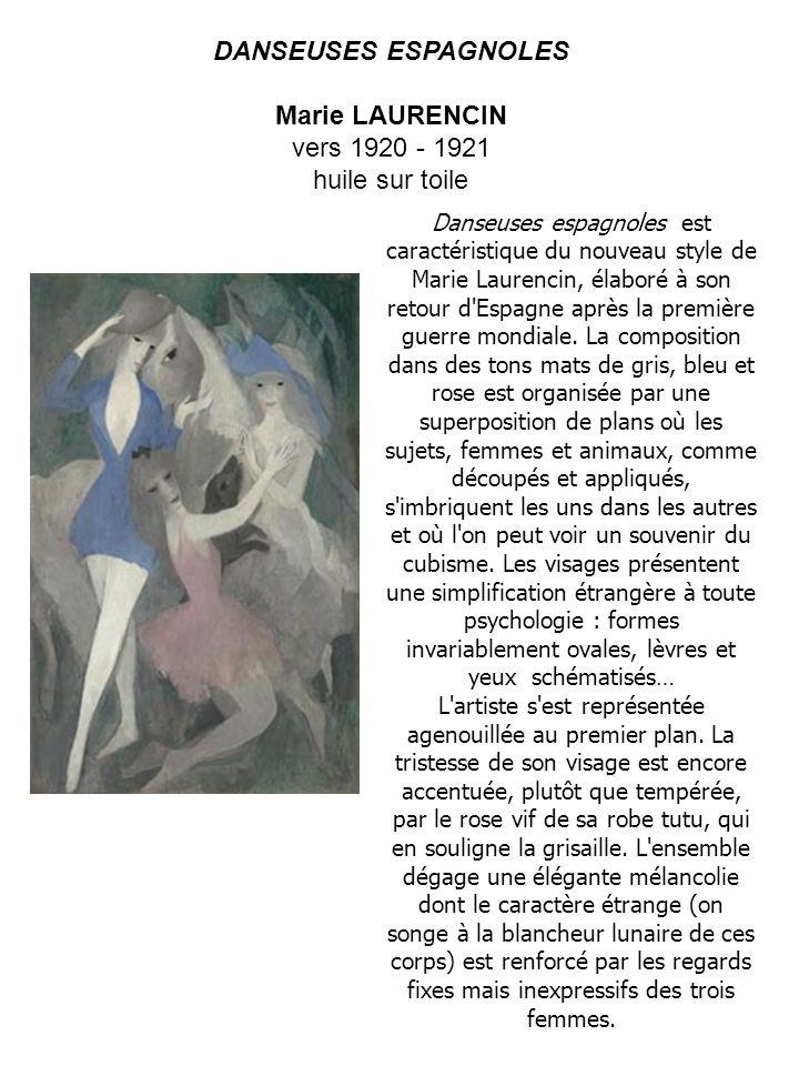 Marie LAURENCIN vers 1920 - 1921 huile sur toile