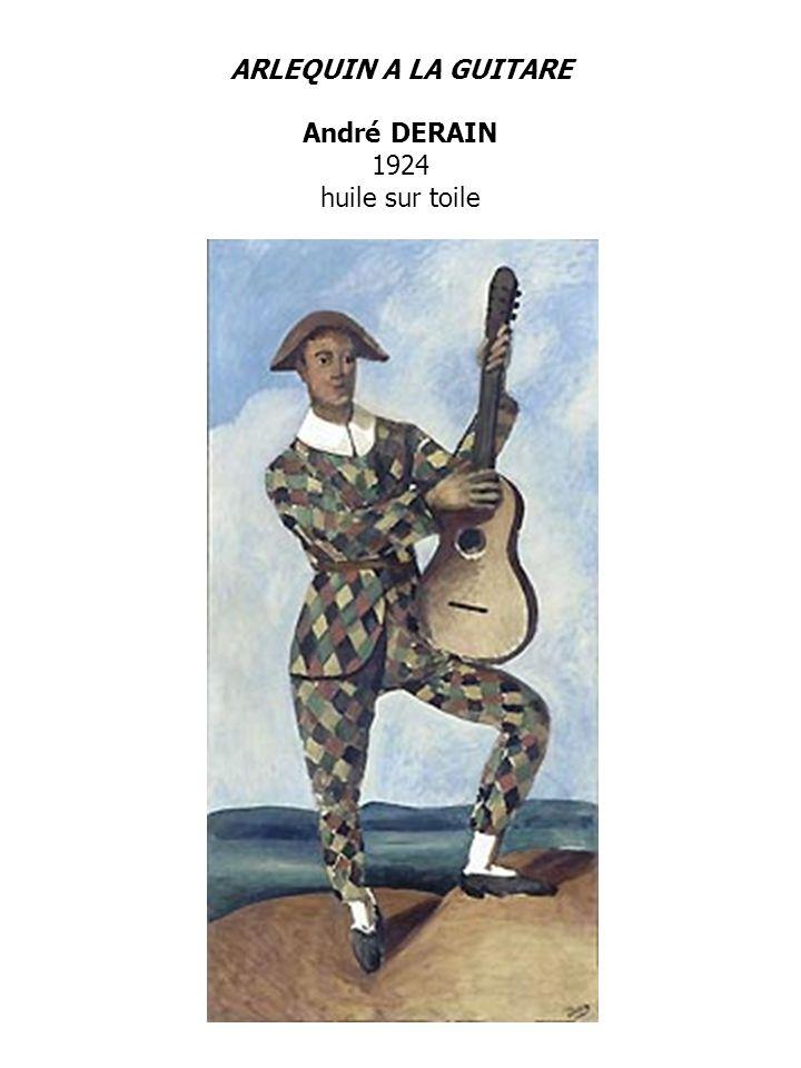 ARLEQUIN A LA GUITARE André DERAIN 1924 huile sur toile