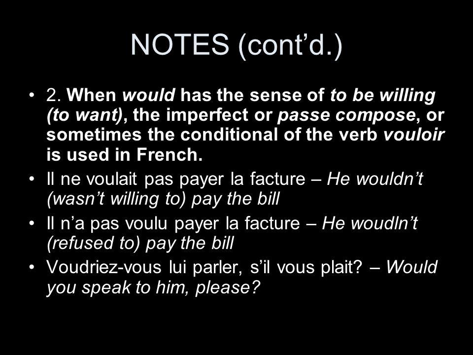 NOTES (cont'd.)