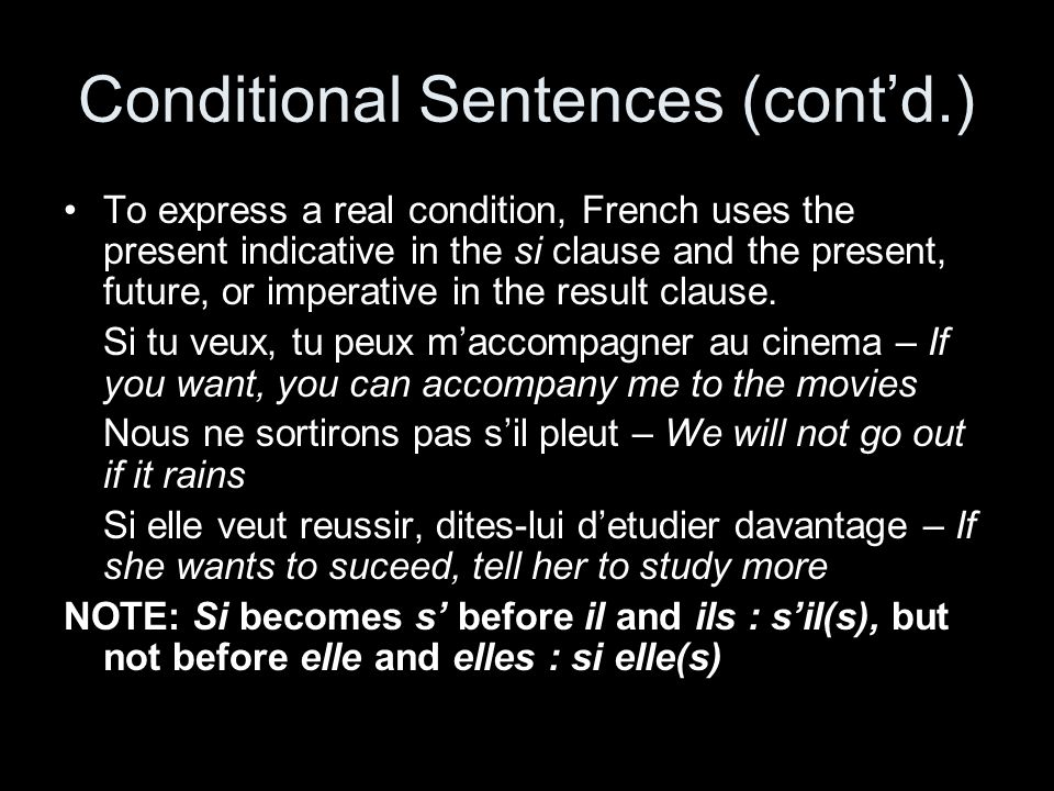 Conditional Sentences (cont'd.)