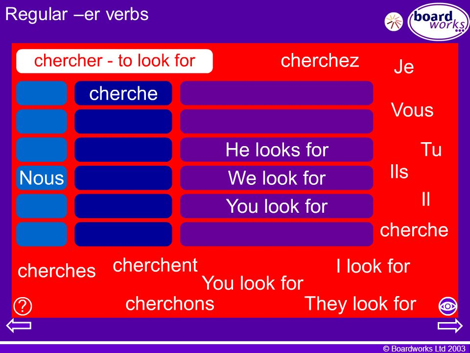Regular –er verbs