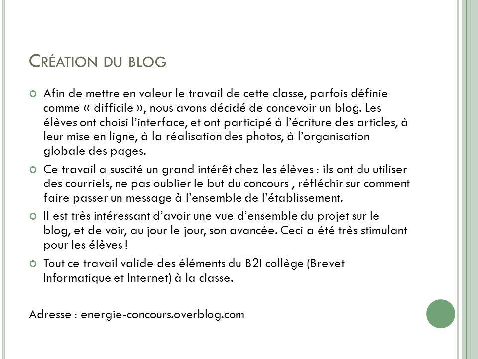 Création du blog